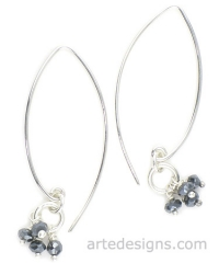 Mystic Sapphire Sliver Earrings at Arte Designs