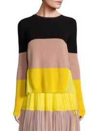 N   21 - Long-Sleeve Colorblocked Stripe Sweater at Saks Off 5th