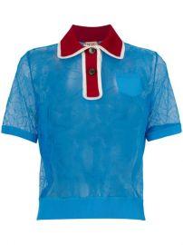 N  186 21 Floral Lace Polo Shirt - Farfetch at Farfetch