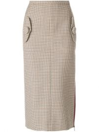 N  186 21 Houndstooth Pencil Skirt at Farfetch