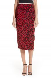 N  21 Leopard Print Pencil Skirt at Nordstrom