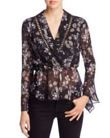 N Nicholas Watercolor Floral Wrap Top - 100  Bloomingdale  039 s Exclusive at Bloomingdales