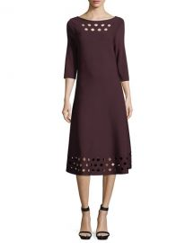 NIC ZOE Time Out Twirl 3 4-Sleeve Cutout Dress at Neiman Marcus