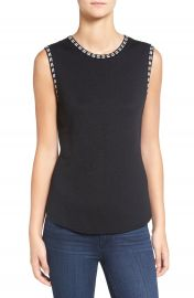 NIC ZOE  Double Stitch  Sleeveless Knit Top   Regular   Petite at Nordstrom
