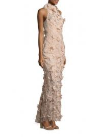 NICHOLAS - 3D Lace Halter Gown at Saks Fifth Avenue