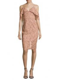 NICHOLAS - Floral Lace Cold-Shoulder Dress at Saks Off 5th