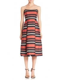NICHOLAS - Striped Strapless Dress at Saks Off 5th