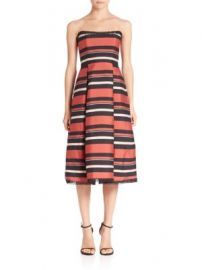 NICHOLAS - Striped Strapless Dress at Saks Fifth Avenue