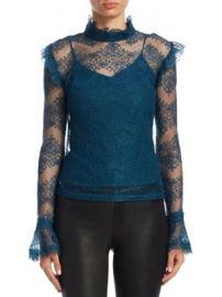 NICHOLAS - Thalia Lace Ruffle Top at Saks Fifth Avenue