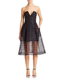 NICHOLAS - Window Lace Bustier Dress at Saks Fifth Avenue