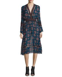 NICHOLAS Marrakech Printed Chiffon Midi Dress at Neiman Marcus