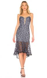 NICHOLAS Whisper Lace Up Bra Dress in Black  amp  Blue from Revolve com at Revolve