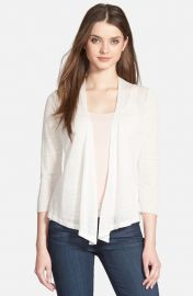 NICandZOE 4-Way Convertible Three Quarter Sleeve Cardigan in White at Nordstrom