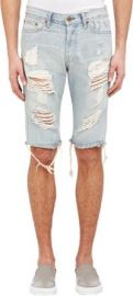 NSF Chuck Distressed Denim Shorts at Barneys