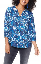 NYDJ Pleat Back Blouse  Regular  amp  Petite at Nordstrom
