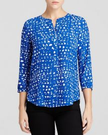 NYDJ Abstract Graphic Print Blouse at Bloomingdales