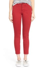 NYDJ Clarissa Colored Stretch Skinny Ankle Jeans in Red at Nordstrom