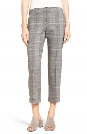 NYDJ Denise Glen Plaid Cuff Slim Ankle Pants at Nordstrom
