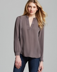 NYDJ Matte And Shine Top in mushroom at Bloomingdales