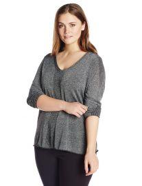 NYDJ Womenand39s Plus-Size Metallic Sweater in Black at Amazon