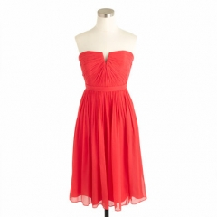Nadia dress in Strawberry at J. Crew