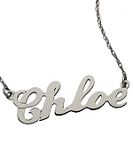 Name plate necklaces at Max and Chloe at Max & Chloe