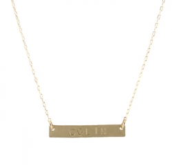 Nameplate Necklace at Peggy Li