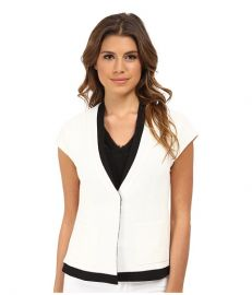 Nanette Lepore Cross The Line Jacket White Multi at Zappos