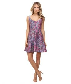 Nanette Lepore Machu Picchu Dress Fiesta Pink Multi at Zappos