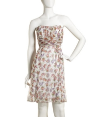 Nanette Lepore Shirred Strapless Dress at Last Call