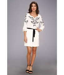 Nanette Lepore Tough Love Dress White at Zappos