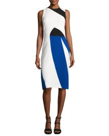 Narciso Rodriguez Colorblock Crepe Sleeveless Sheath Dress at Bergdorf Goodman