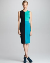 Narciso Rodriguez Colorblock Knit Sheath Dress at Neiman Marcus