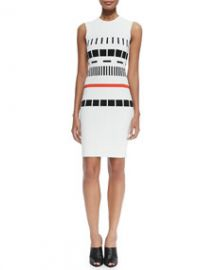 Narciso Rodriguez Sleeveless Reversible Graphic Dress at Neiman Marcus