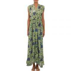 Natalie Martin Flower-Print Sleeveless andquotNicoandquot Maxi Dress at Barneys