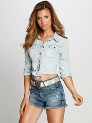 Natalie denim shirt at Guess