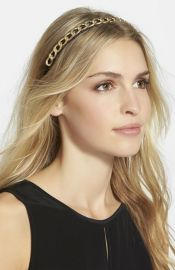 Natasha Couture and39Foxie Broxieand39 Chain Embellished Headband at Nordstrom
