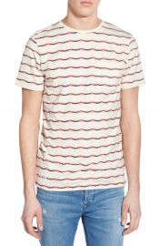 Native Youth Jacquard Stripe Pocket Crewneck T-Shirt at Nordstrom