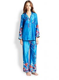 Natori - Floral Print Charmeuse Pajamas at Saks Fifth Avenue