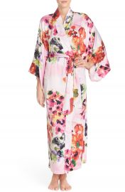 Natori  Waterspring  Floral Charmeuse Robe at Nordstrom