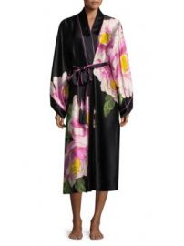Natori Clair De Lune Silk Robe at Saks Off 5th
