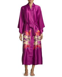 Natori Imperial Floral-Print Wrap Robe at Neiman Marcus