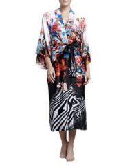 Natori Xianado Long Satin Robe at Neiman Marcus