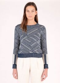 Natural Indigo Sweater at Billy Reid