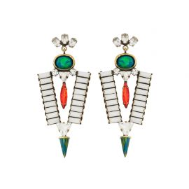 Navada Earrings in White at LionetteNY
