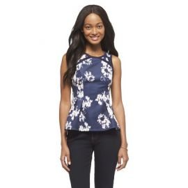 Navy  Peplum Top at Target