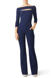 Navy Katiuscia Jumpsuit by Chiara Boni La Petite Robe at Rent The Runway
