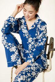 Navy Shadow Blossom Pajamas at BedHead