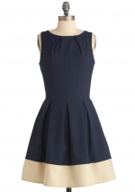 Navy and white dress like Jess Days at Modcloth