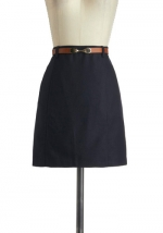 Navy blue skirt like Rileys at Modcloth